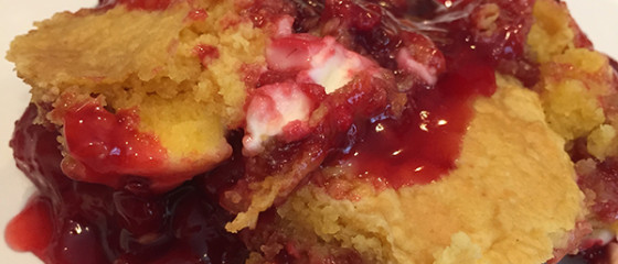 Berry Cheesecake Cobbler