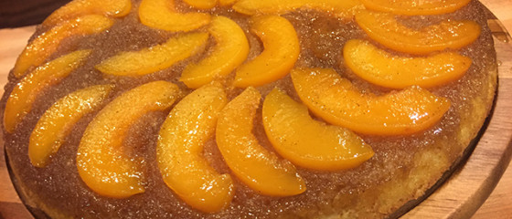 Bourbon Peach Upside-Down Cake